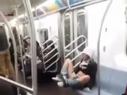 Chick feeling horny on the 7 line