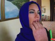Veiled mulsim beauty fucked and facialized