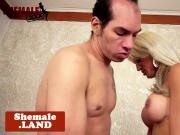 Bigbooty shemale doggystyles hubby after bj