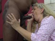Greedy granny seduced by horny stepson