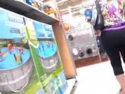 tremendo culote en supermercado milf ass spandex