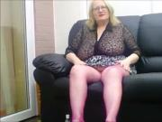 An early video in pink fishnet tights
