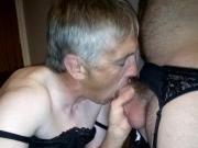 Sub Slut James sucks cock before getting arse fucked