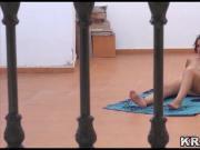 Krakenhot Brunette Chubby Mature in a homemade voyeur video