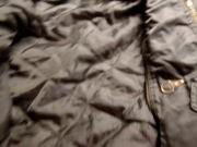 Cum inside shiny green Clockhouse jacket