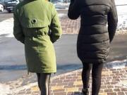 Spandex leggings outside