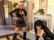 Stella German Cruel Mistress uses Her slave Hard