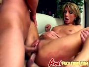 Cock-starved bitch gets double penetrated in epic threesome