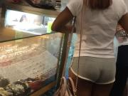 Cheeky Bubble Booty in Grey Shorts