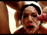 Brunette Babes Love Facials Compilation #2