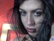 Russian tgirl tugs after teasing in lingerie