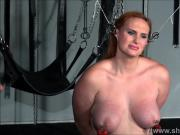 Amazon slave Chloe Davis humiliated and mercilessly punished