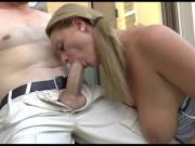 Mature With Big Saggy Tits Outdoor Swallow