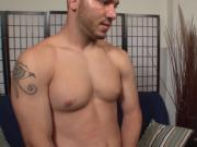 Military hunk jerked off