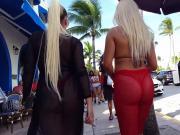 Candid voyeur hot latinas thick ass in thongs public