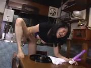 Hot Japanese Milf Masturbate Wet Dildos 26