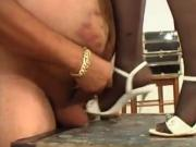 Femdom cock-crush and ballbusting