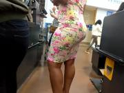 Phat bubble booty in floral dress