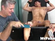Handsome young man Axel restrained and tickled everywhere