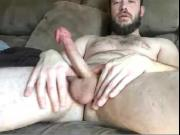 Cute Str8 Bearded Guy blows a Load on cam #18