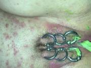 Amateur births Avacado out of her wrecked pierced pussy 2