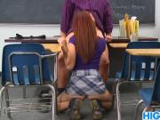 Schoolgirl Leah Cortez Is Naughty