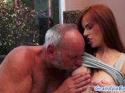 Smalltits babe seduces her senior lover