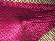 Denim, fishnets and silk