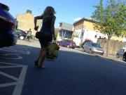 Sunny Day Tight Dress Gorgeous Arse Blonde Car Park