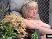 Blonde Anneka Masturbating Outdoors