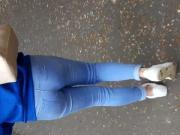Sweet walking Teen Ass in Jeans - Germany