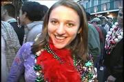 young girl flashing all at mardi gras