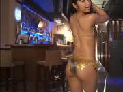 RINA - Oiled Up Gold Bikini Dancing Non-Nude