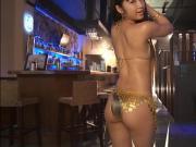 RINA - Oiled Up Gold Bikini Dancing Non-Nude