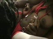 Black lesbian eating black pussy