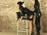 Latex slave torment