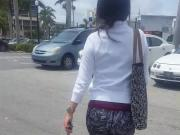 Candid Latina in Spandex