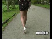 Stiletto girl Jenna walks sexually in erotic high heel shoes