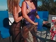 Busty Pornstars Toying Around The Mansion