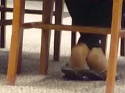 Candid Ebony Feet in Library 3