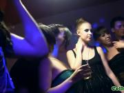 Russian coeds love to turn party in to orgy