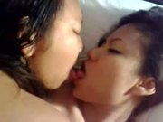 Watch my asian girlfriend having fun with her lesbian cousin