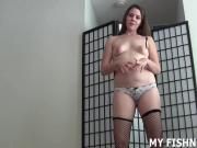 I will tease you cock in my sexy new fishnets JOI