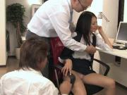 Hot secretary gets pounded by two collegues at work
