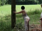 big booty great body milf fucked in garden