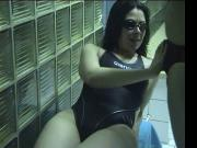 cute girl blowjob with trainer after swimming lessons