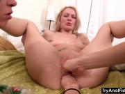 Try Anal Fisting - Lesbo ass-fisting on a coffee table