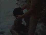 Ebony blow on the beach FM14