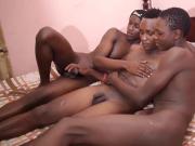 3 Black African Twinks Barebacking
