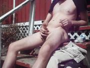 outdoor fun on sunny day, cum shot